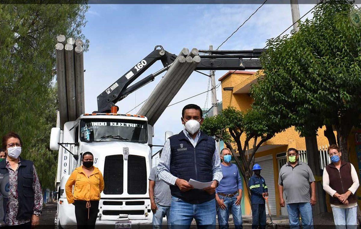 Dan inicio obras de ampliación de red eléctrica en Pedro Escobedo