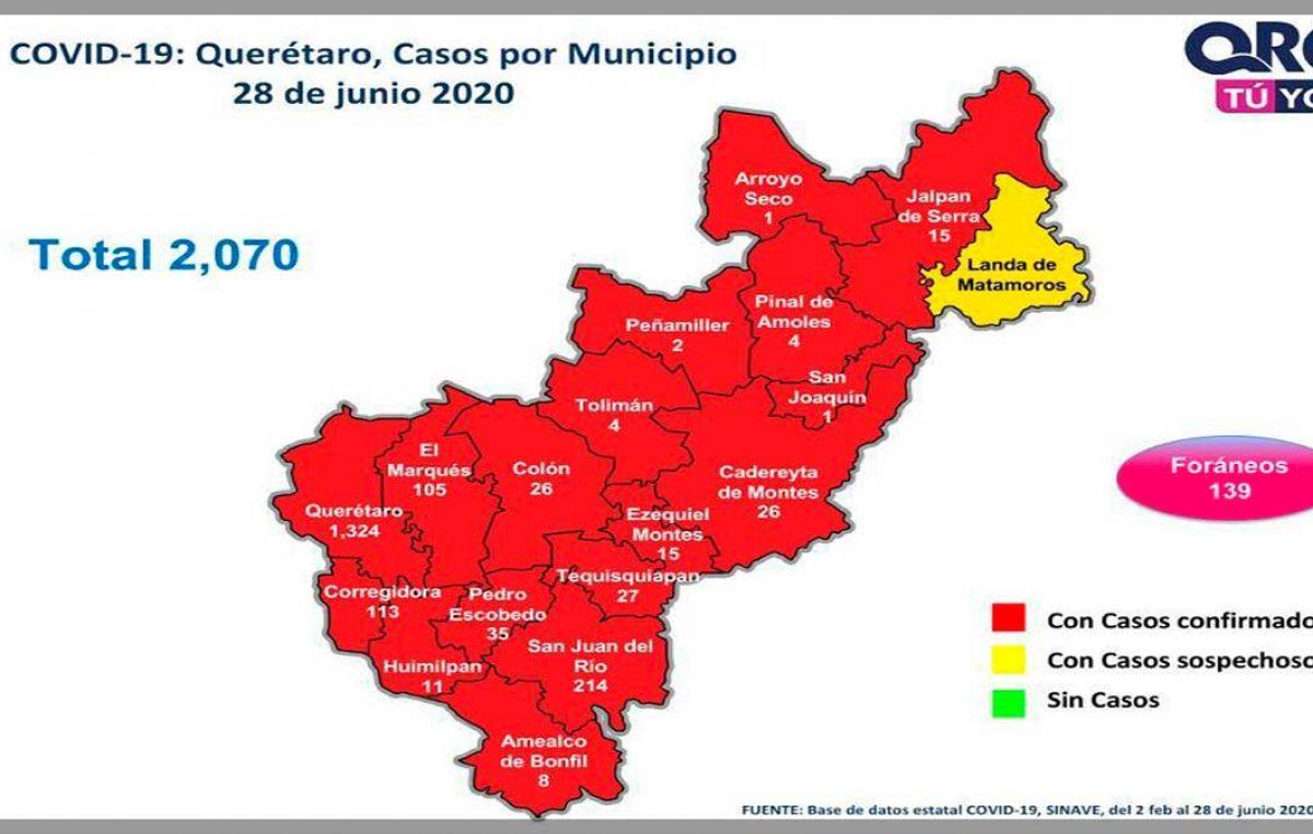 Registra SJR 214 casos de COVID-19, en el estado un total de dos mil 70