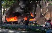 Queman patrullas y vandalizan en Jalisco por muerte de Giovanni López