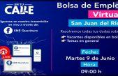 Habrá 6ª bolsa de Empleo Virtual de contratación inmediata en SJR