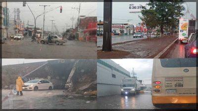 Fuerte lluvia en SJR deja encharcamientos e inundaciones