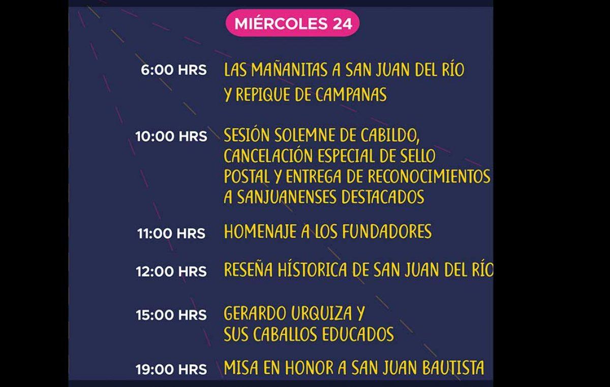 Ofrecerán programa virtual por 489 Aniversario de San Juan del Río