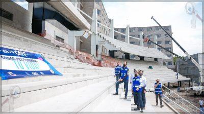 Supervisan avances en las obras del Distrito Alameda