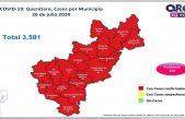 Querétaro con tres mil 591 casos de COVID-19