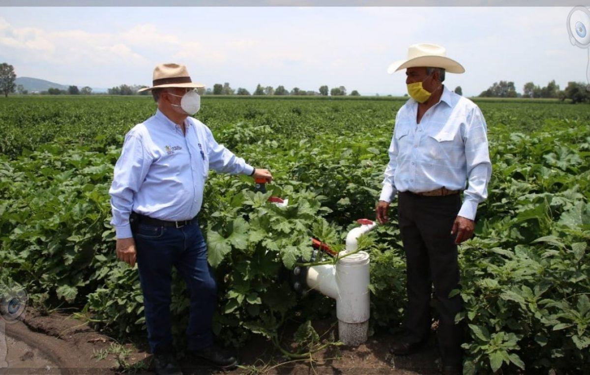 Tecnifican sistemas de riego en San Juan del Río