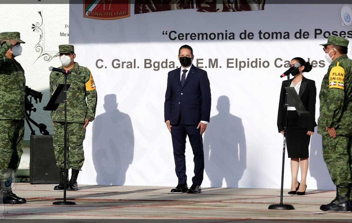 Toma de Posesión y Protesta de Bandera del nuevo Comandante de la XVII Zona Militar