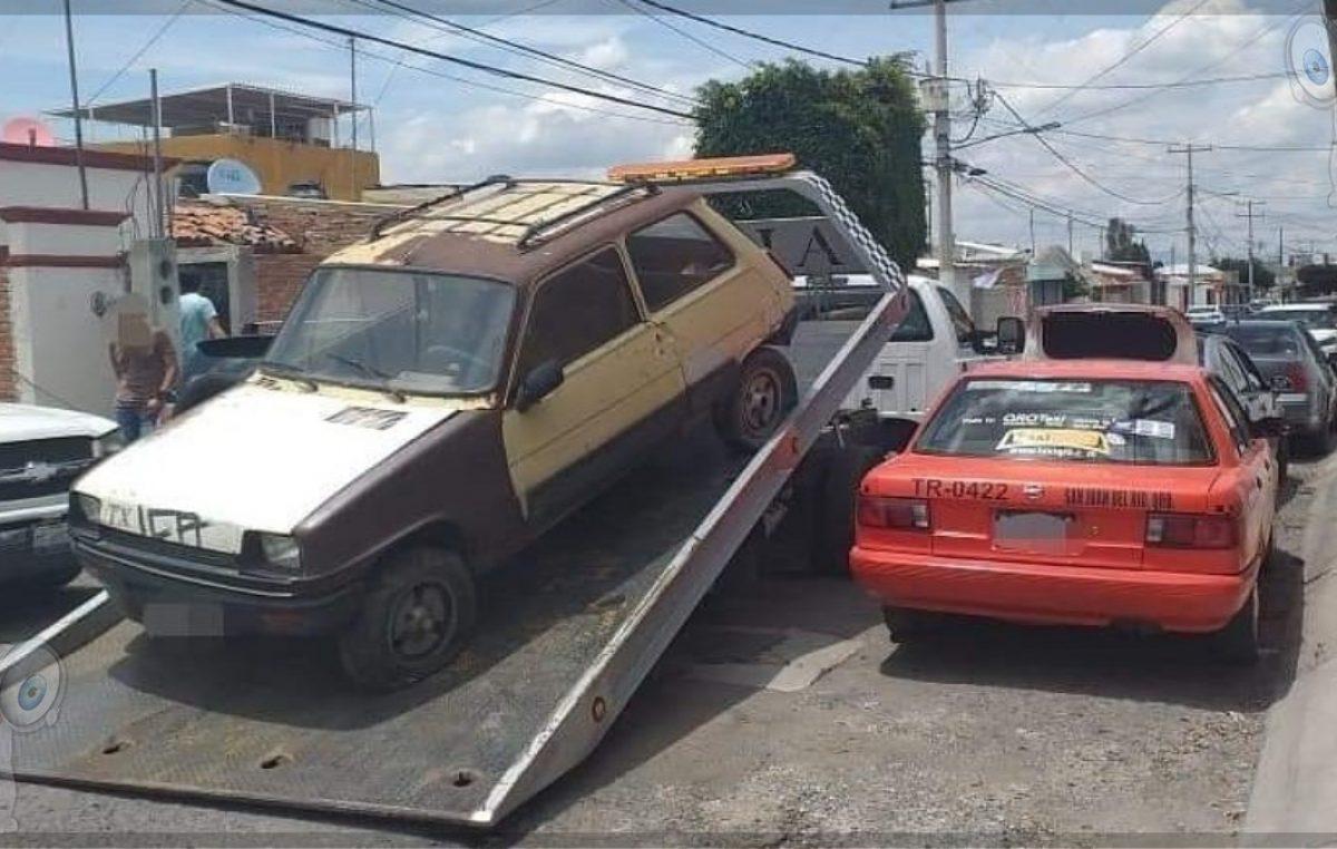 Remite SSPMSJR ocho vehículos abandonados
