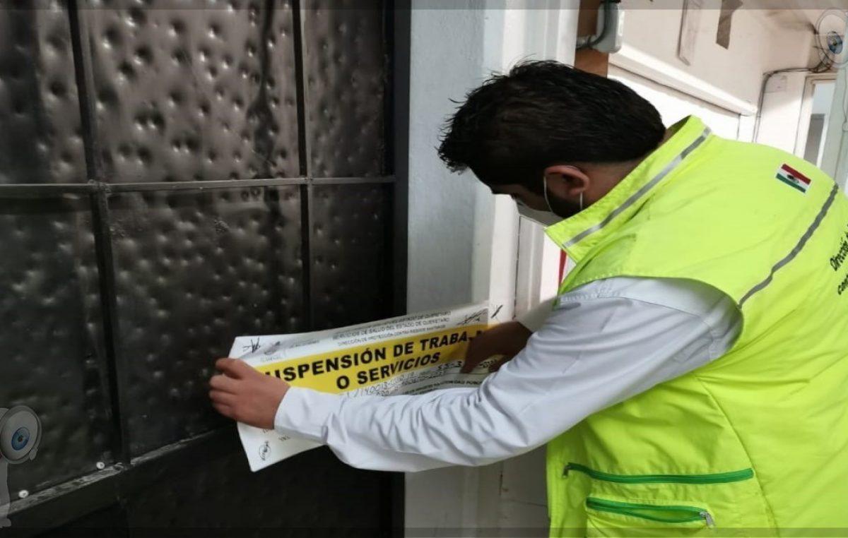 SESEQ suspende 113 establecimientos por incumplir medidas sanitarias