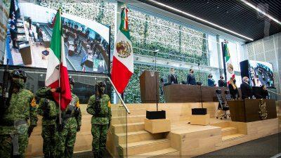 Rinde Francisco Domínguez 5to Informe de Gobierno.