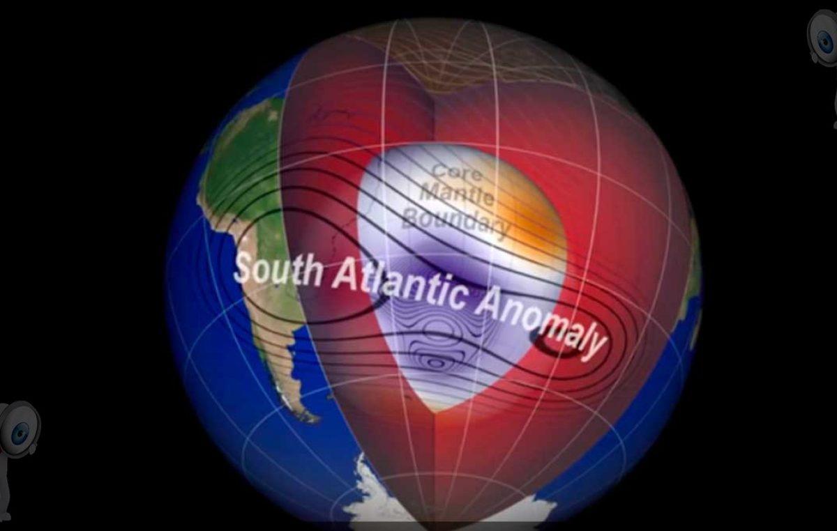 NASA encuentra una anomalía en el campo magnético de la tierra en sudamérica.