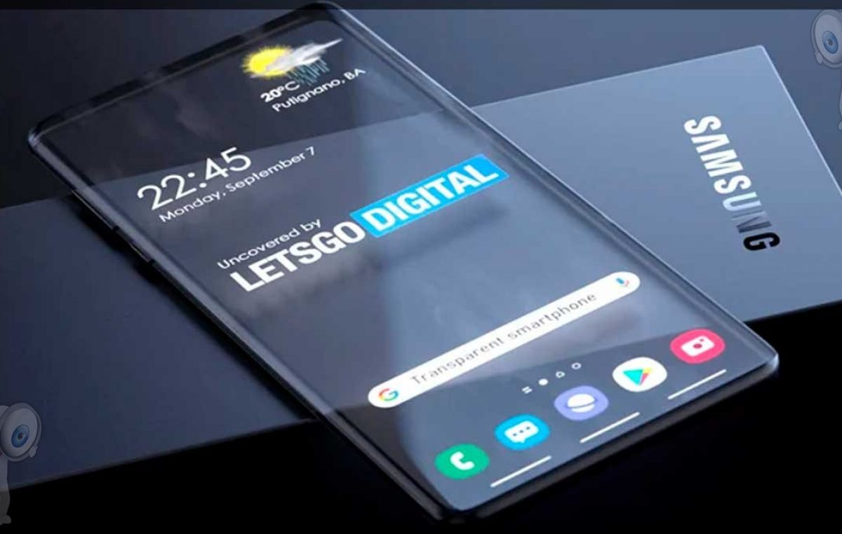 Samsung patenta un teléfono con pantalla transparente, así es como podría lucir