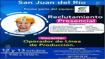 Habrá reclutamiento de personal para empresa de SJR
