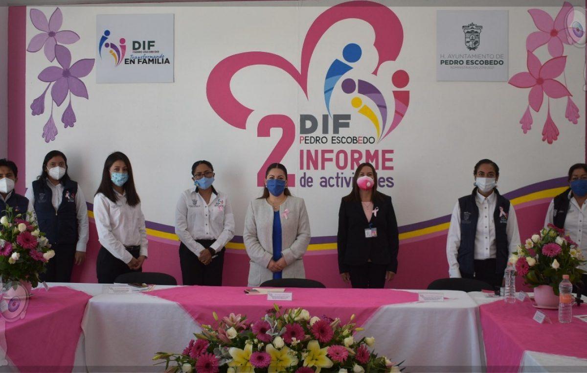 Presenta Araceli Olvera 2do Informe de Actividades del DIF en Pedro Escobedo