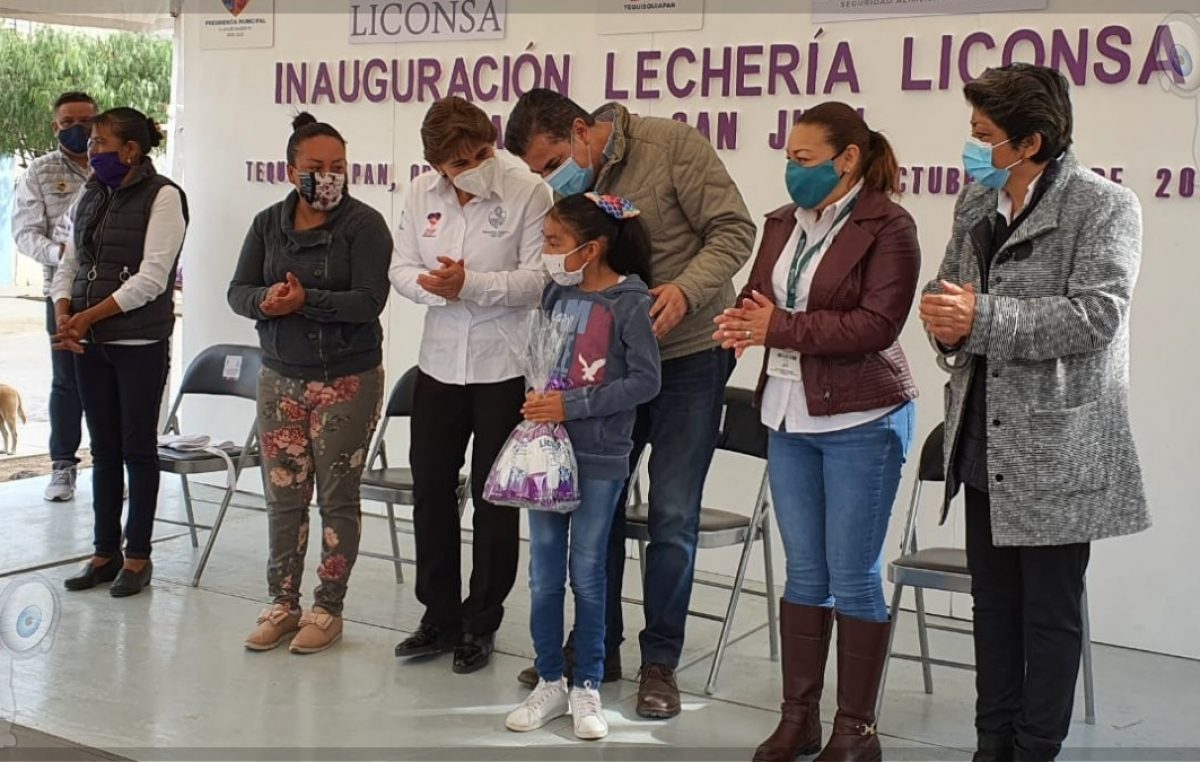 Inaugura Toño Mejía nueva lechería de Liconsa en TX