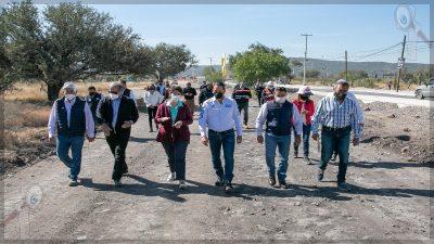 Supervisa Gobernador rehabilitación de vialidades en Corregidora
