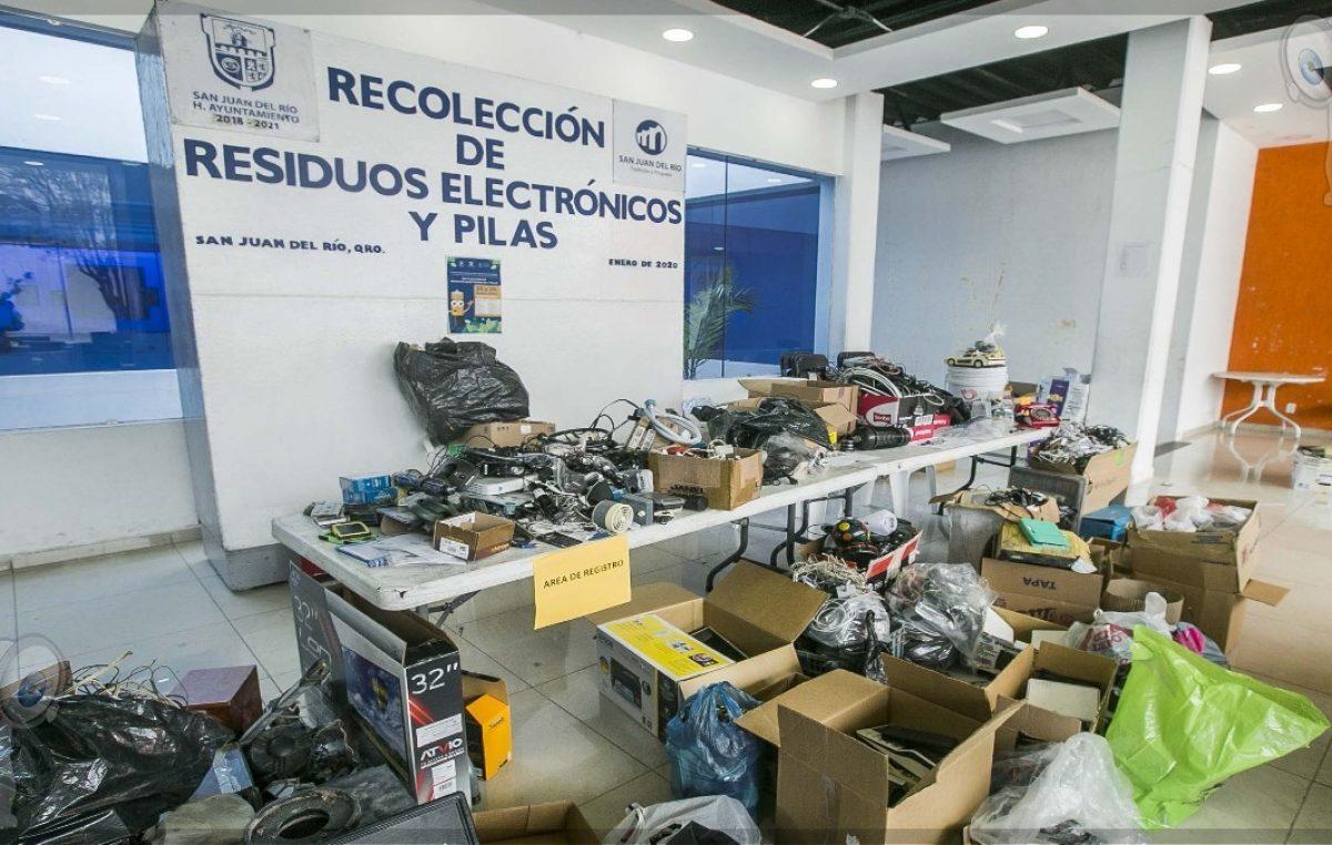 Invita gobierno sanjuanense a 4ª Jornada de Reciclaje de electrónicos y pilas
