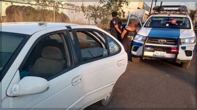 Tras persecución, detienen a sujeto armado en SJR