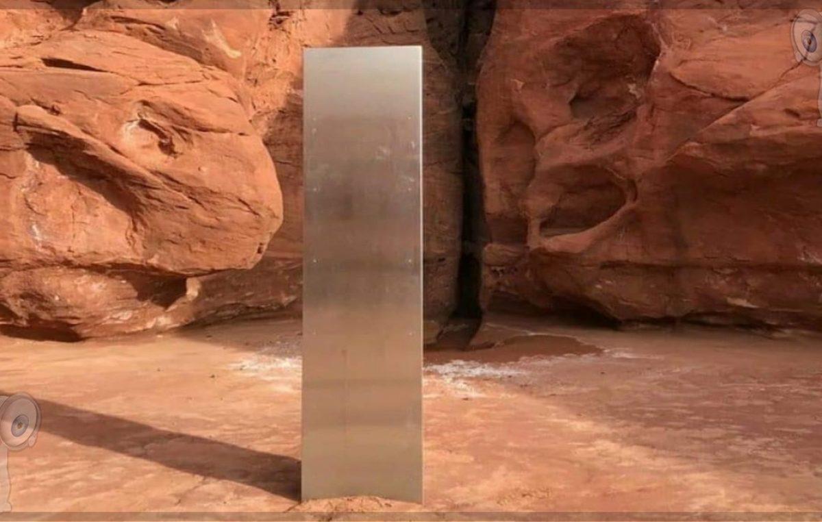 Un misterioso monolito de metal en el desierto de Utah
