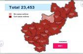Querétaro con 23 mil 453 casos de COVID-19 y mil 650 muertes