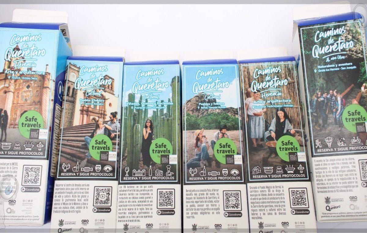 Promoverán turísticamente a Querétaro en empaques de leche