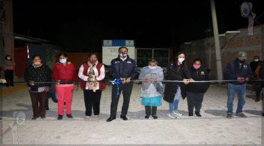 Reciben obra de urbanización ciudadanos de Noria Nueva en Escobedo