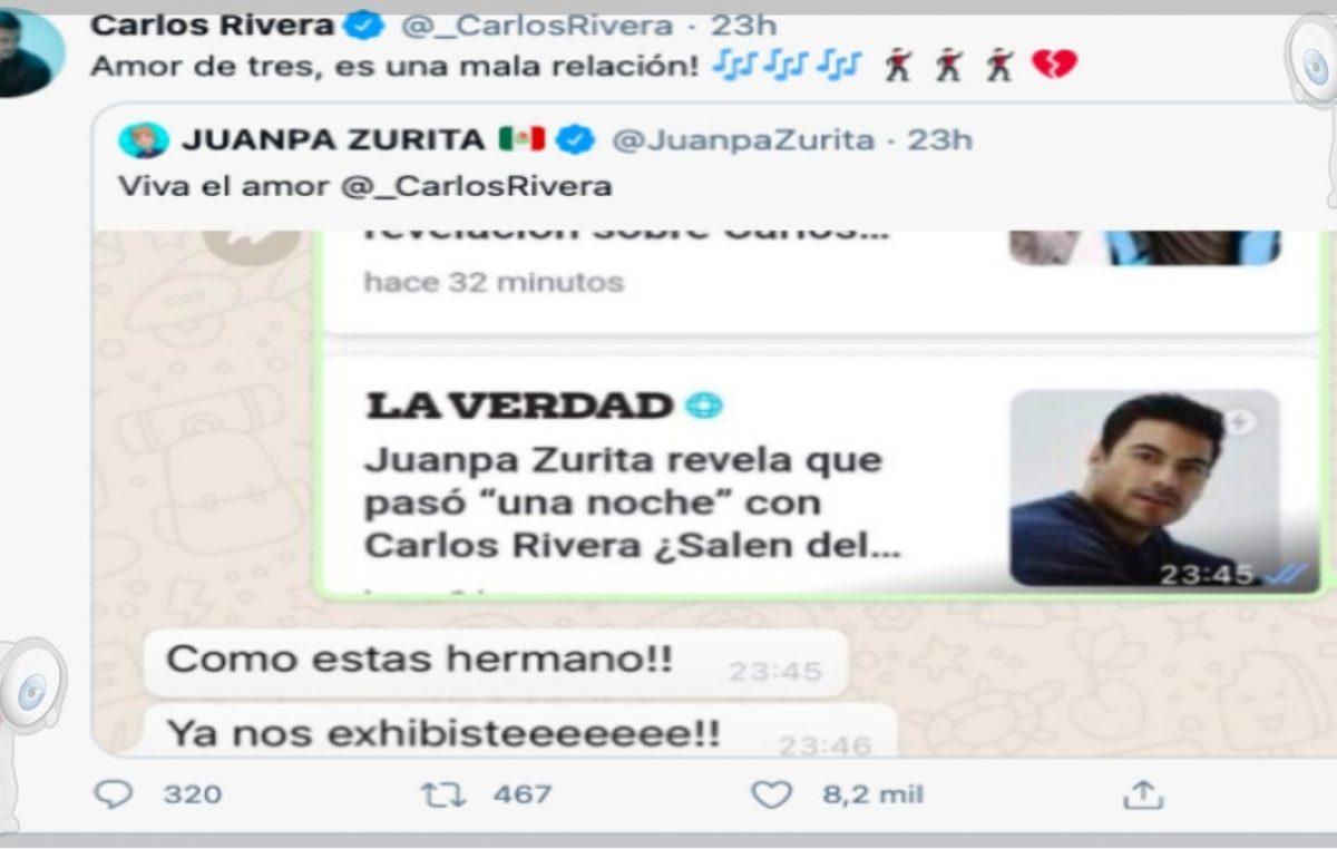 Carlos Rivera y Juanpa Zurita reaccionan a los rumores