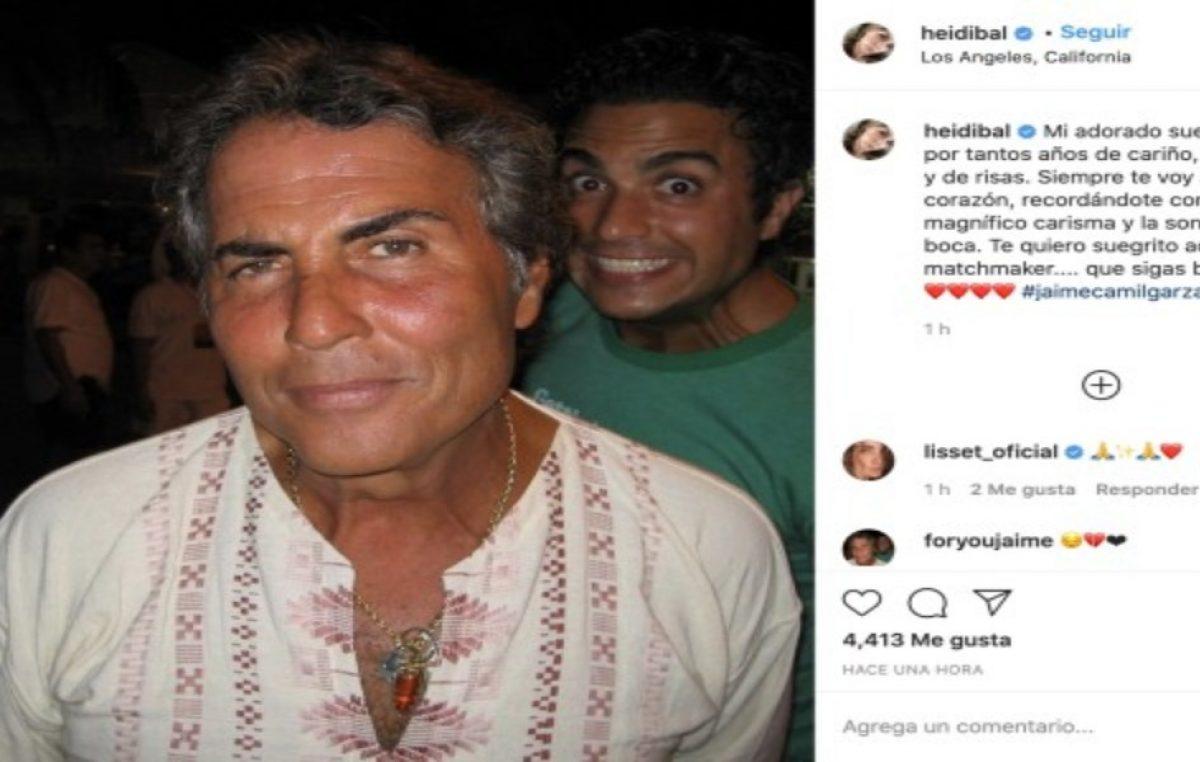 Heidi Balvanera, reacciona a la muerte de Jaime Camil Garza