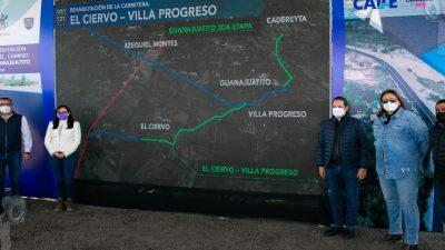 Entregan rehabilitación del Camino Villa Progreso – Guanajuatito, en Ezequiel Montes
