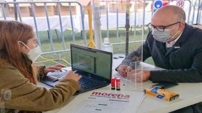 Jorge Luis Montes se registra como aspirante al II Distrito Federal por MORENA