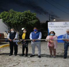 Continúa entrega de mejoramiento urbano en Pedro Escobedo