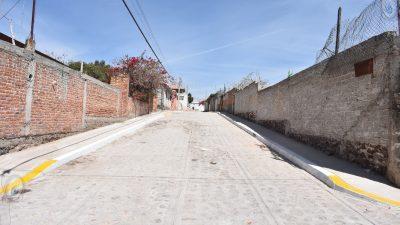 Entregan obra de infraestructura en San Fandila, Pedro Escobedo