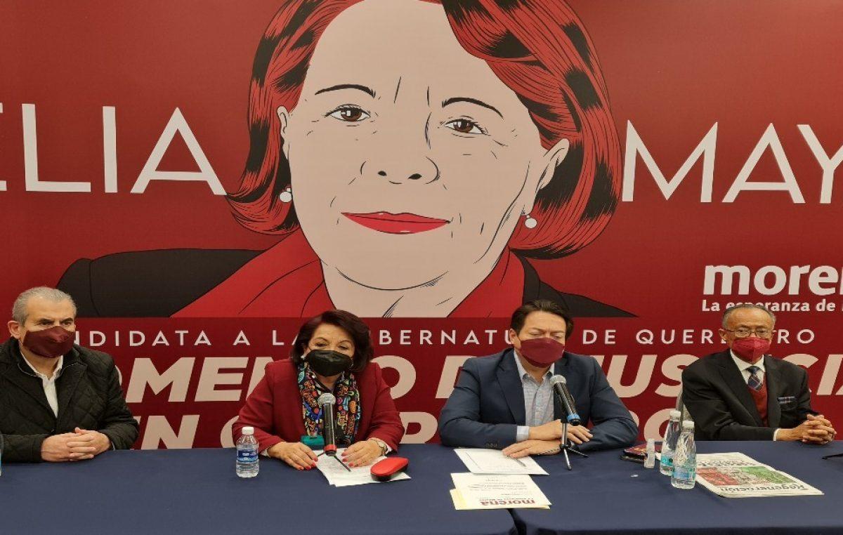Celia Maya candidata oficial a la gubernatura de Querétaro por MORENA