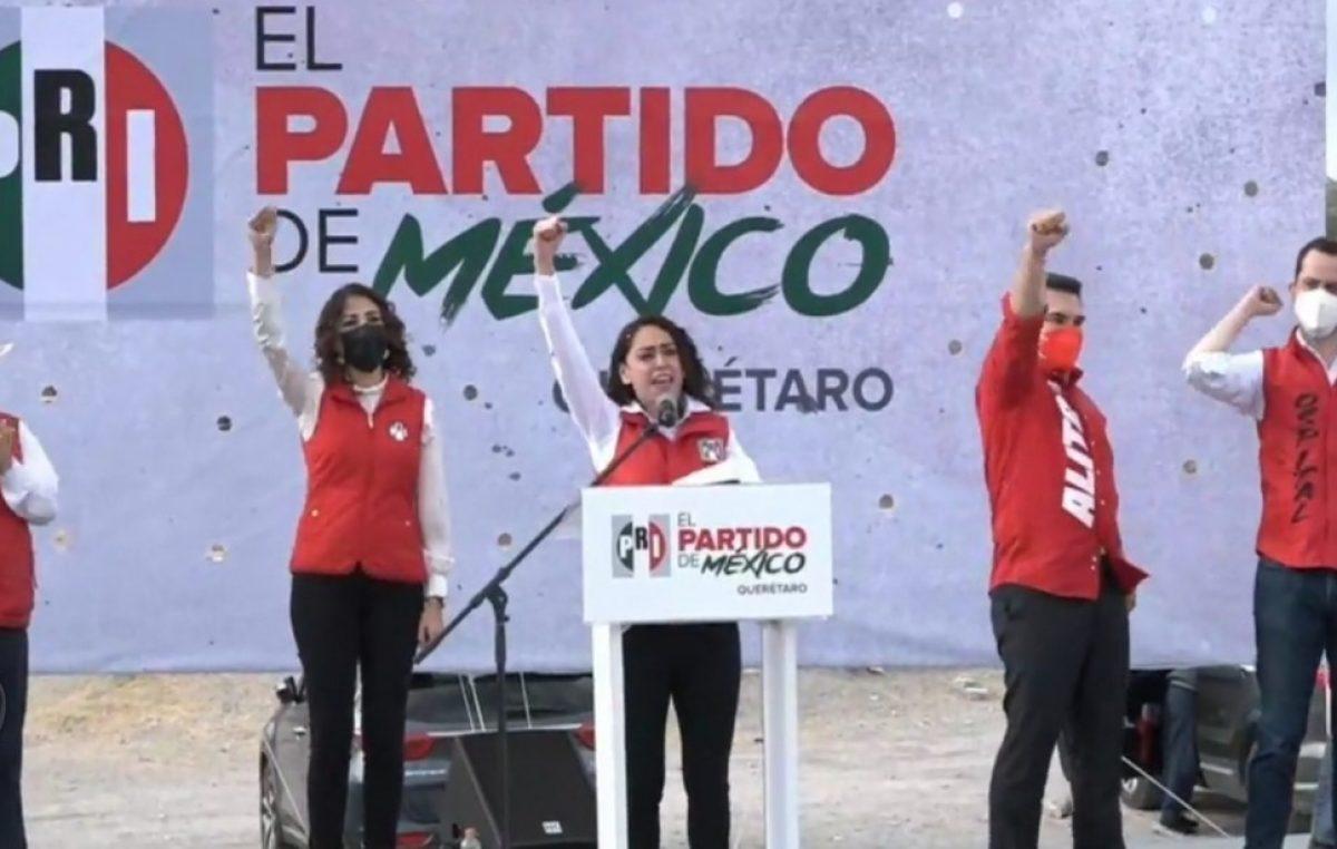 Toma protesta Abigail Arredondo como candidata del PRI a la gubernatura de Querétaro