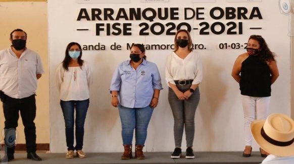 Anuncia SEDESOQ 17 mdp para obras sociales en Landa de Matamoros