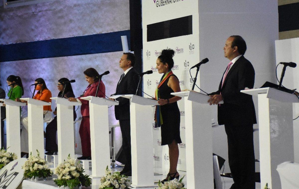 Realiza IEEQ primer debate oficial entre candidaturas a la gubernatura 2021