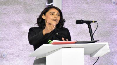 Presenta Abigail Arredondo propuestas reales y valientes en debate