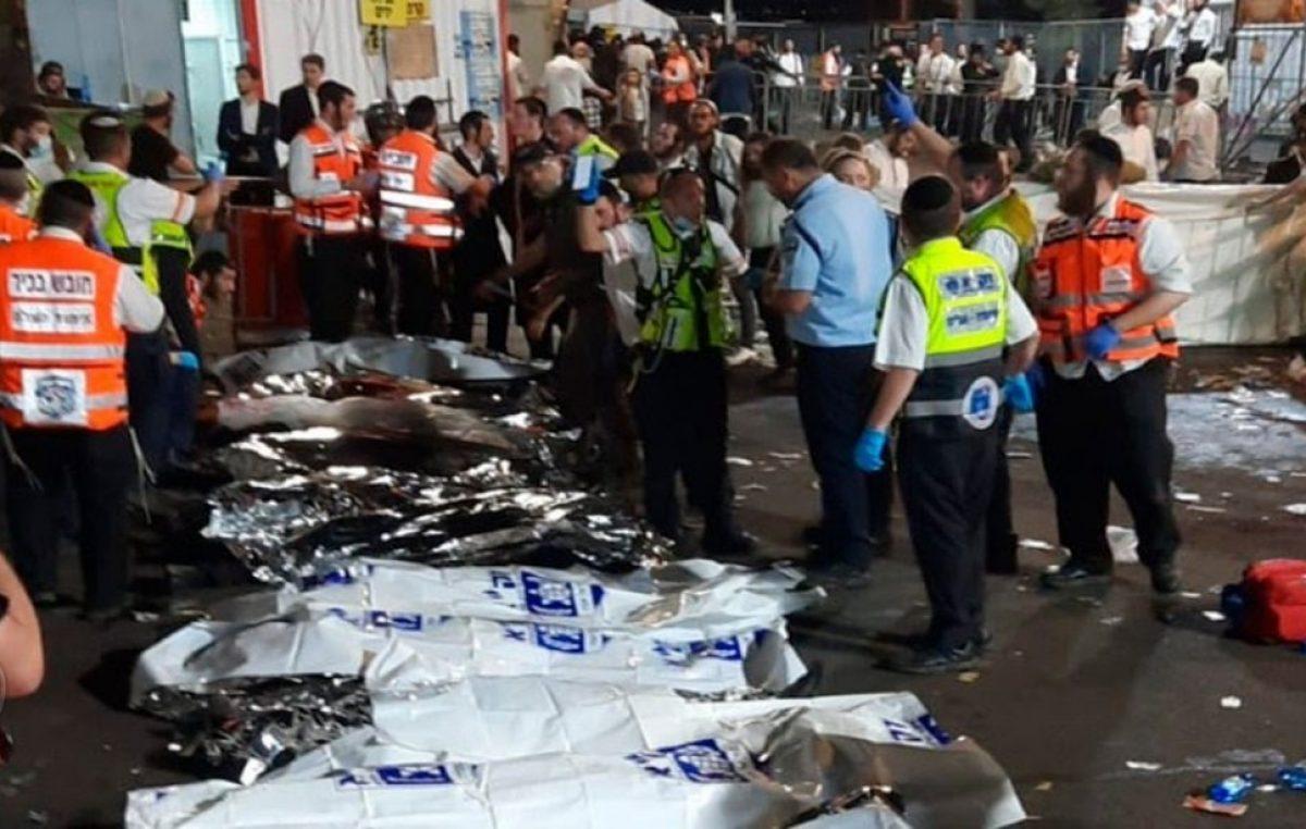 Estampida durante peregrinación en Israel deja 38 muertos