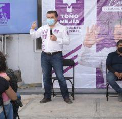 Reiteran habitantes de Tierra Blanca apoyo a Toño Mejía