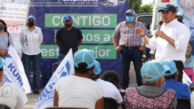 Adelante las familias de La Valla y Santa Matilde: Roberto Cabrera