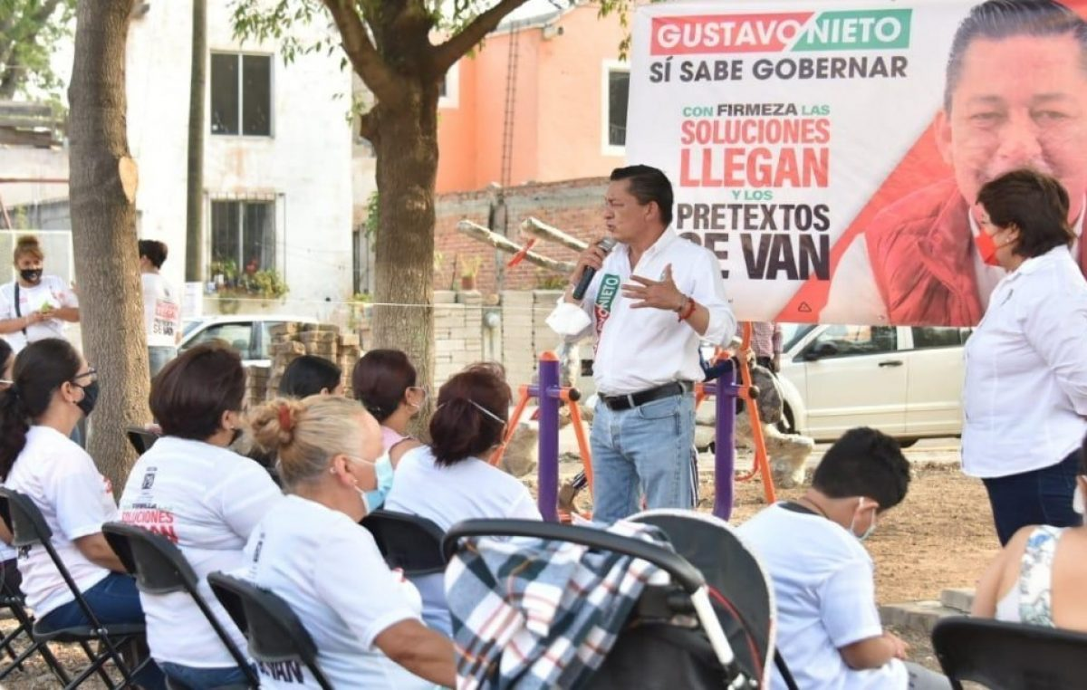 Piso firme para todos, advierte Gustavo Nieto Chávez.