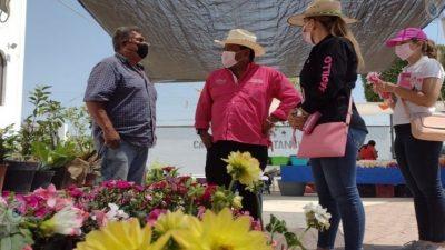 Ricardo Badillo presenta propuestas de campaña en comunidades de SJR