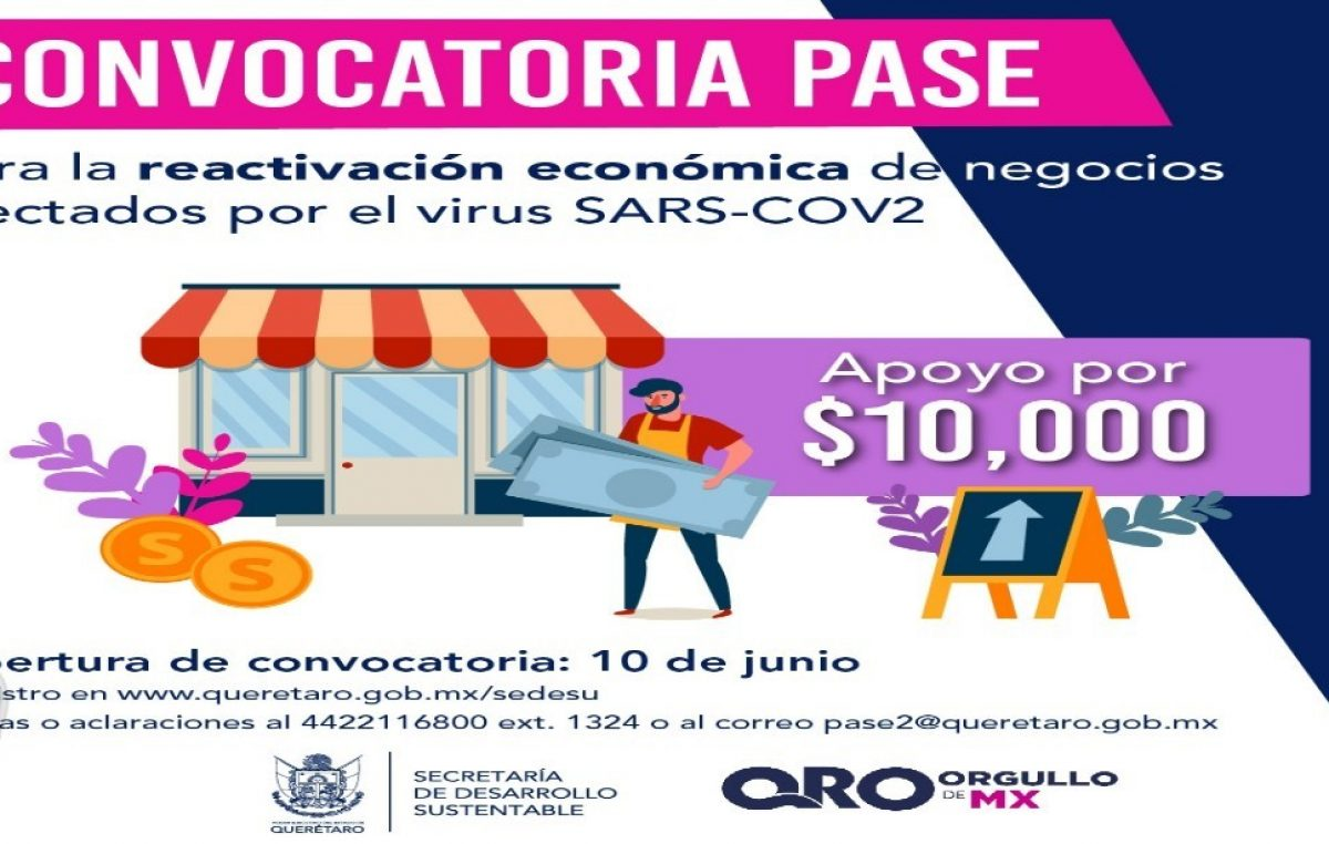 A través del programa PASE apoyarán a negocios para reactivar economía