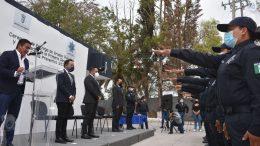 Entregan grados policiales y se gradúan 11 nuevos policías en Escobedo