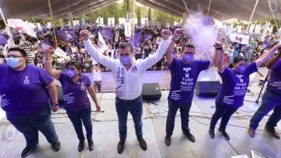 Gran cierre de campaña de Tono Mejía en Tequisquiapan