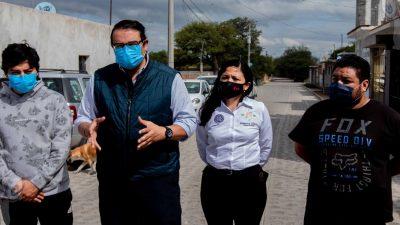 Realiza Memo Vega entrega de obras de mejoramiento de calles