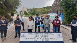 Entrega Amarildo Bárcenas obras en San Fandila y Dolores de Ajuchitlancito
