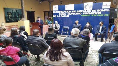 Amealco de Bonfil recibe certificación como Municipio Promotor de la Salud