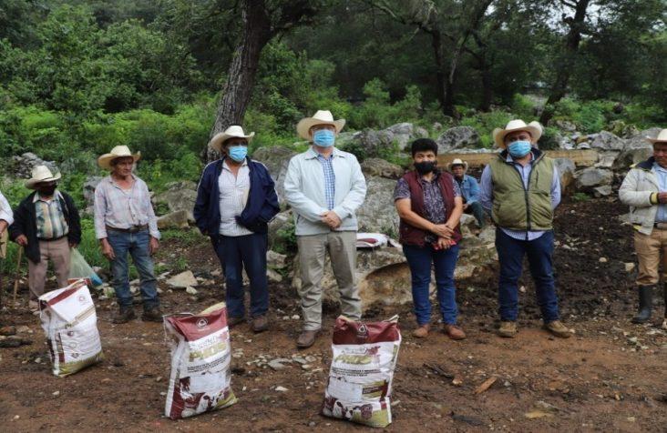 SEDEA entrega fertilizante orgánico y semillas en Jalpan de Serra