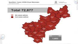 Suman en Querétaro 72 mil 877 casos de COVID-19