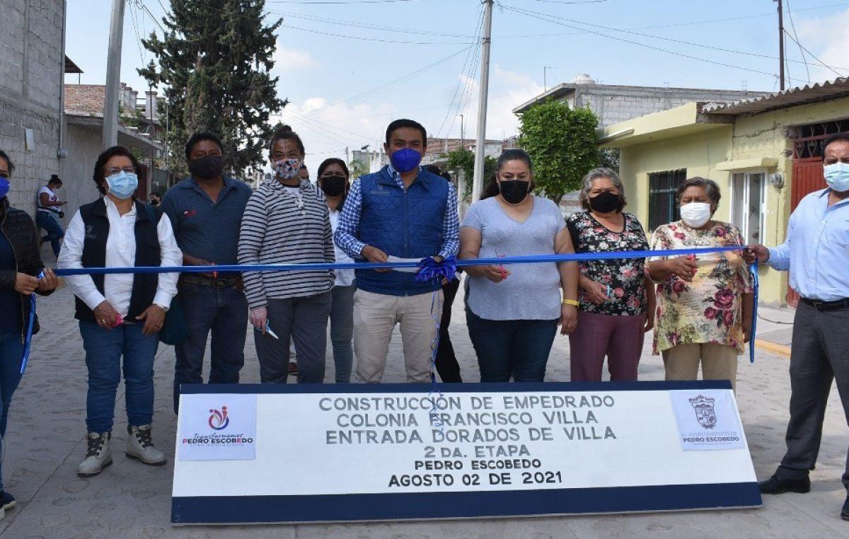 Entrega de obra en colonias Francisco Villa y Las Postas en Escobedo